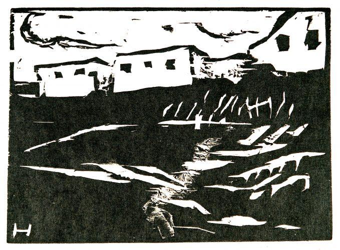 Weisse Häuser by Erich Heckel at