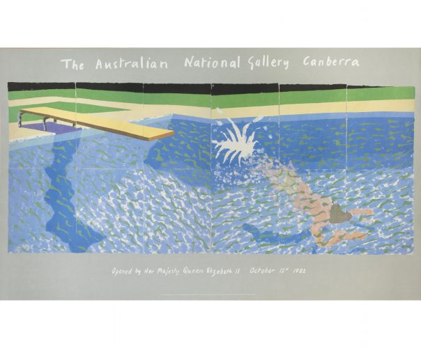 The Australian National Gallery Canberra (Paper Pool 17) by David Hockney