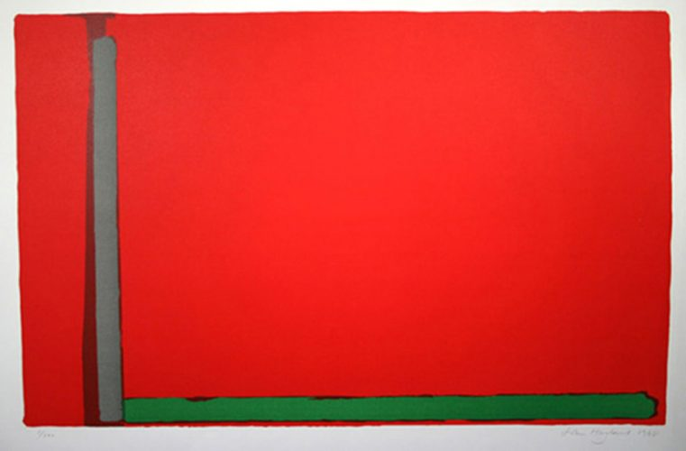 Large Red (Swiss) by John Hoyland at Gwen Hughes Fine Art