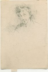 """""""Whistler with the White Lock"""" by James Abbott McNeill Whistler at"""