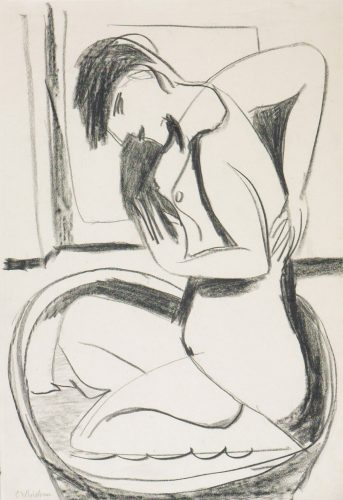 Woman in Bathtub by Ernst Ludwig Kirchner