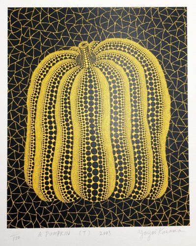 A Pumpkin (T) by Yayoi Kusama at