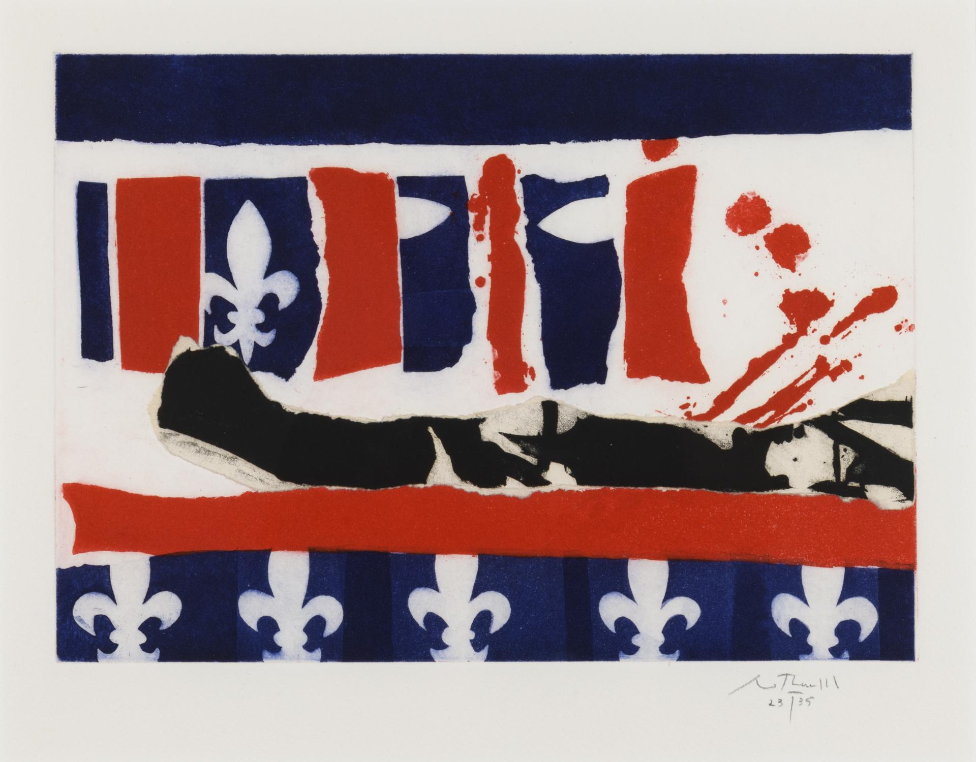 French Revolution Bicentennial II by Robert Motherwell