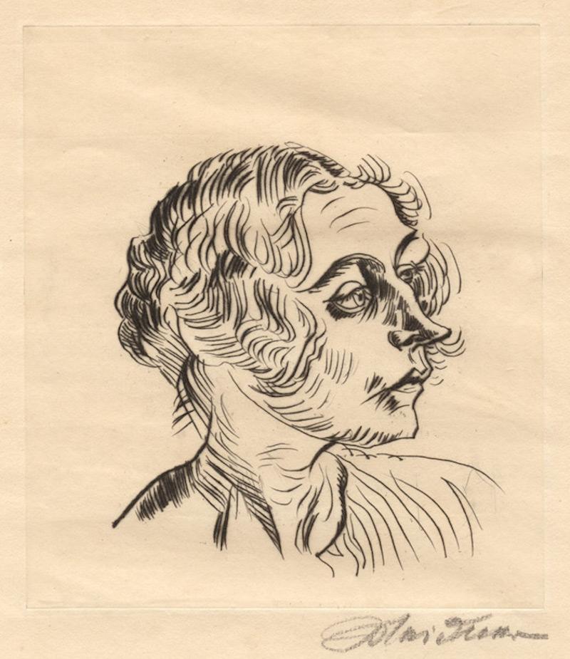 Frauenbildnes, nach rechts by Ludwig Meidner