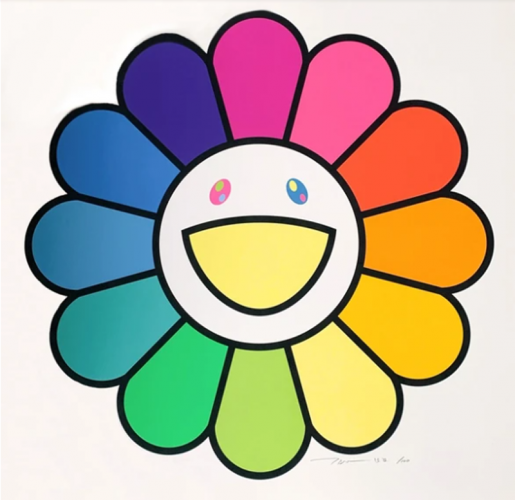 Ms. Rainbow Flower by Takashi Murakami