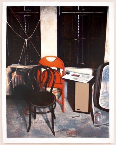 Soho still life by Lowell Nesbitt