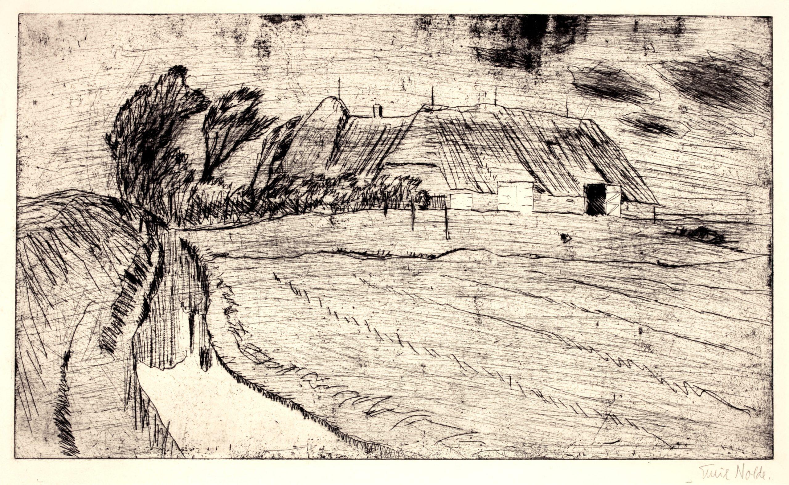 Bauernhof by Emil Nolde