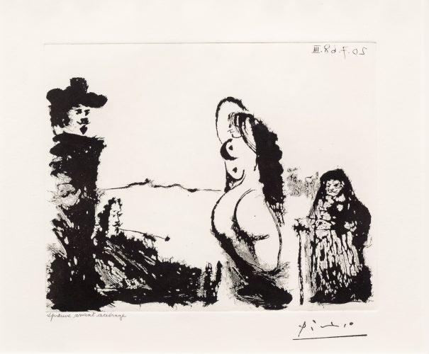 Un Dejeuner sur l'Herbe Rembranesque…, from the 347 Series by Pablo Picasso