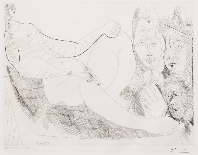 Femme au Lit avec Visiteurs…, from the 156 Series by Pablo Picasso