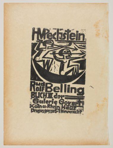H. M. Pechstein und Rudolf Belling, Buch III der Galerie Goyert by Max Pechstein
