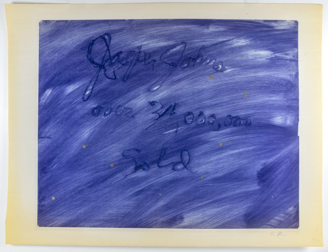 Jasper Johns over 34,000,000 sold by Rene Ricard at