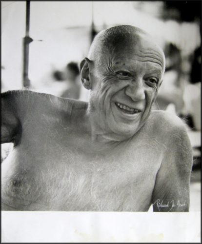Portrait of the artist smiling by Pablo Picasso (after) at