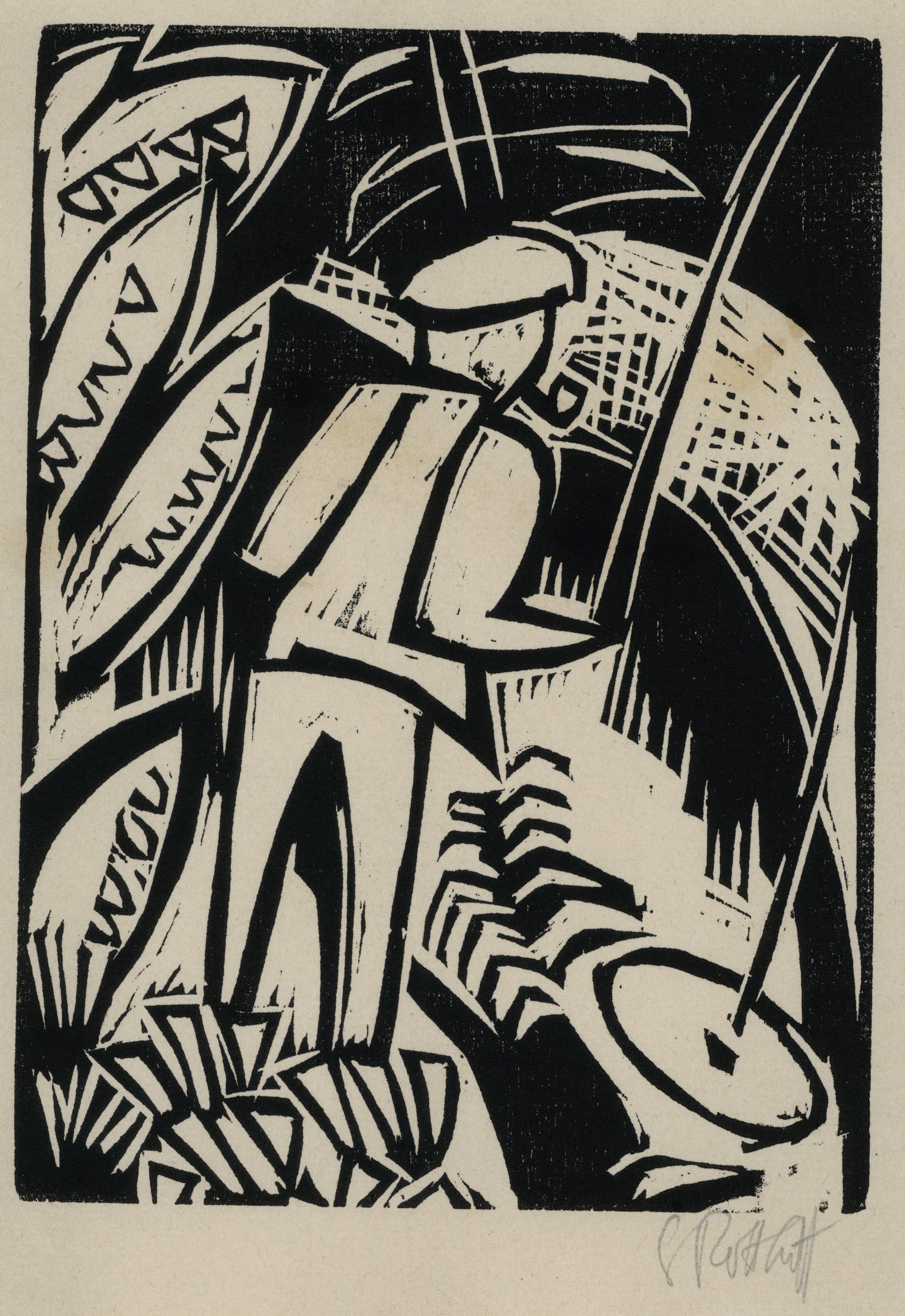 Der Angler by Karl Schmidt-Rottluff
