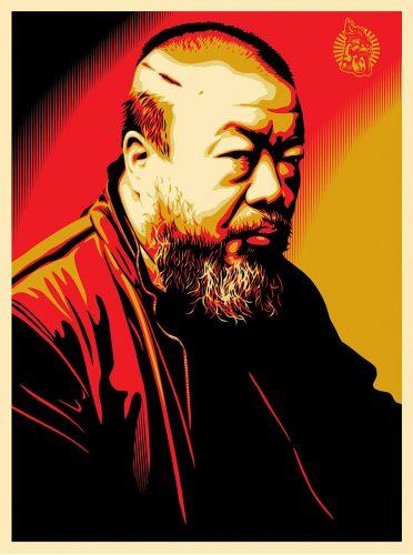 Tribute to Ai Weiwei by Shepard Fairey