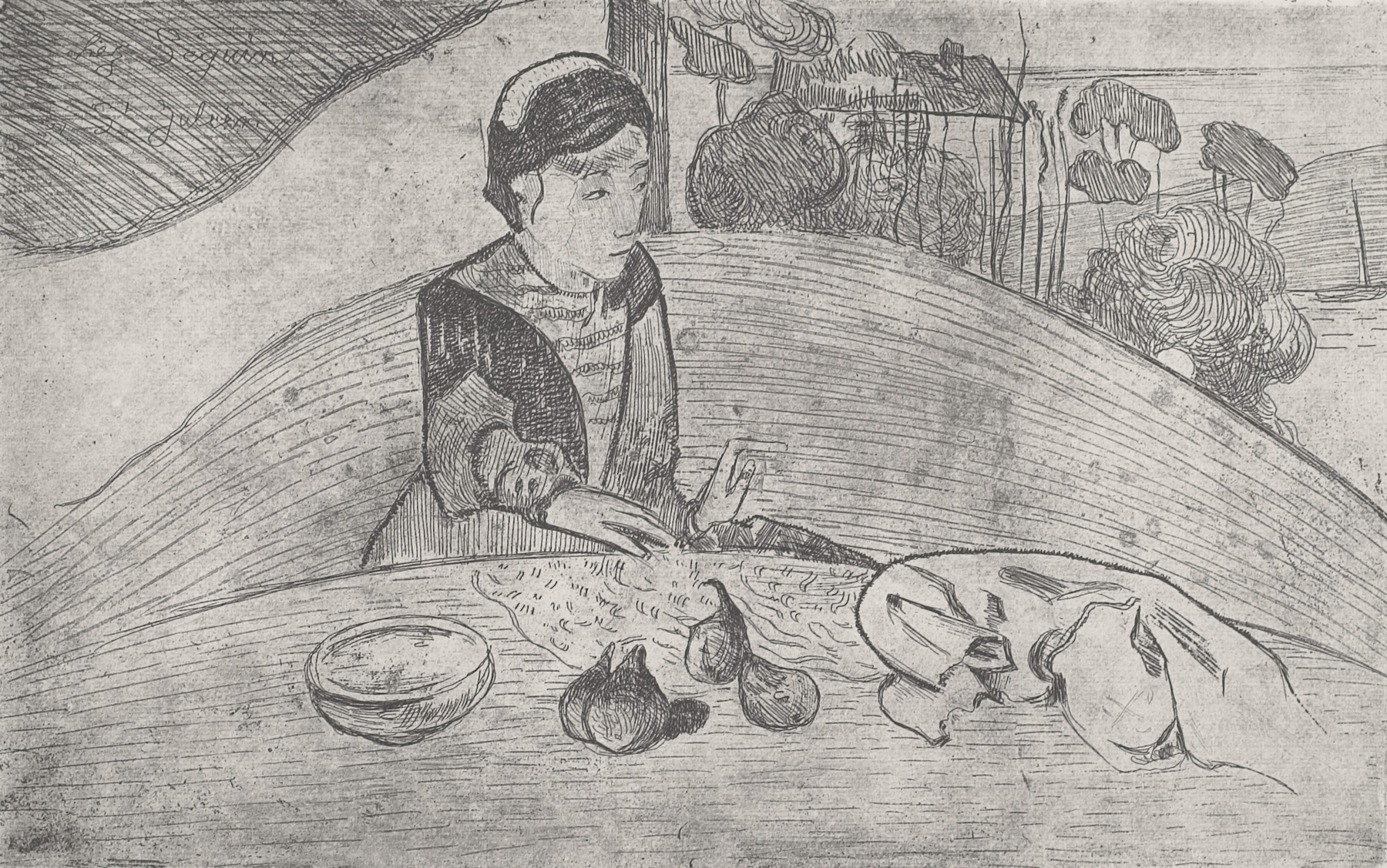 Woman with Figs by Paul Gauguin