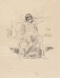 The Draped Figure – Seated by James Abbott McNeill Whistler at