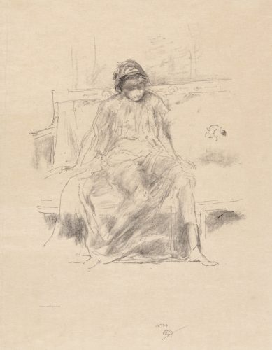 The Draped Figure – Seated by James Abbott McNeill Whistler