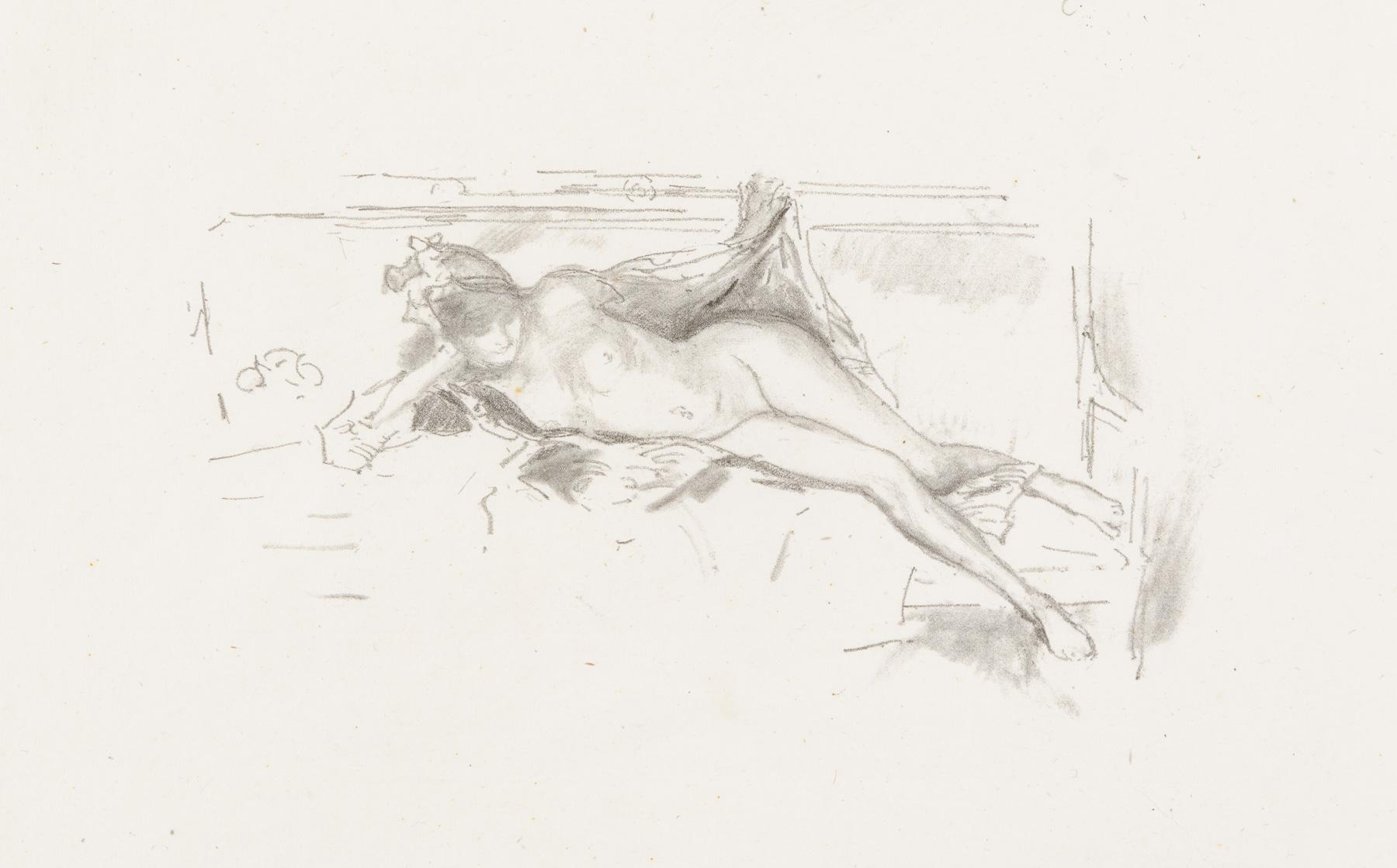 Nude Model, Reclining by James Abbott McNeill Whistler