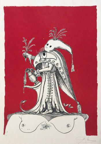 """""""Les Songes Drôlatiques de Pantagruel"""" (Plancha 73-7-Y) by Salvador Dali"""