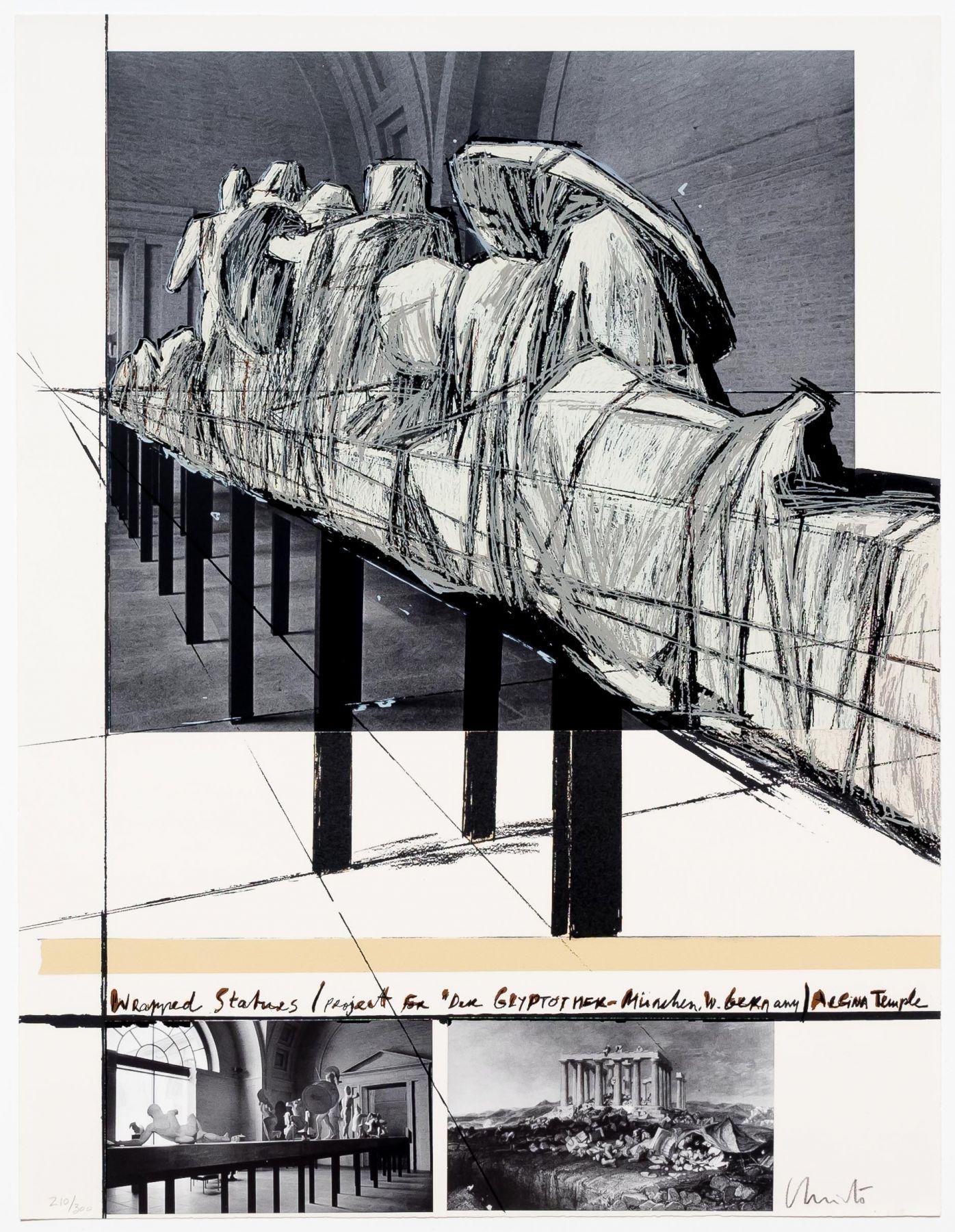 Aegena Temple Project for Munich Glyptotek by Christo