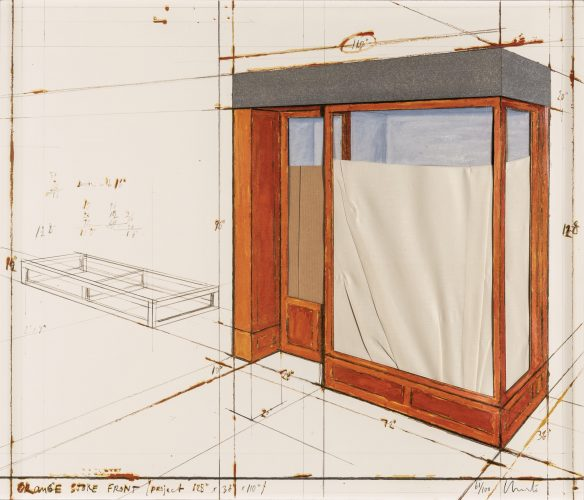 Orange Store Front, Project 1979 by Christo