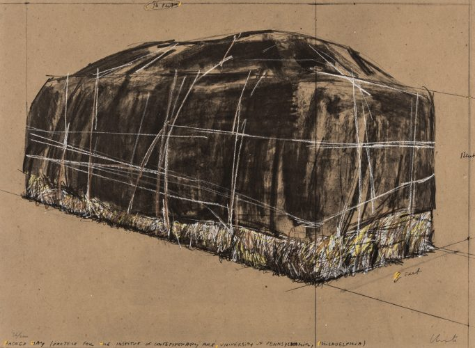 Packed Hay, Project for the Institute of Contemporary Art, Philadelphia by Christo
