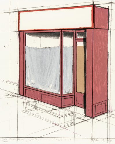 Pink Store Front, Project by Christo