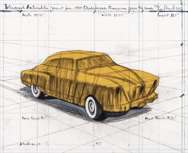 Wrapped Automobile (Project for 1950 Studebaker Champion, Series 9 G Coupe) by Christo