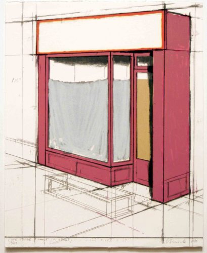 Pink Store Front, Project from Marginalia by Christo