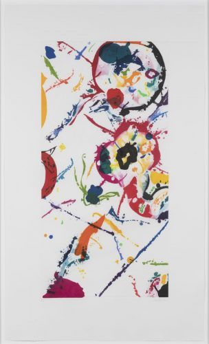 Leo Rising by Sam Francis