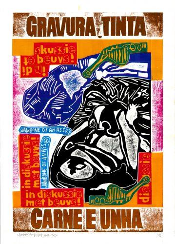Gravura Tinta Carne Unha (Print Ink Flesh Nail) by Claudio Caropreso