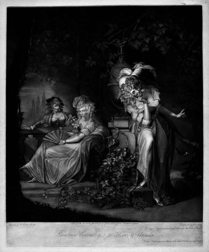 Beatrice Listening to Hero and Ursula. by Henry Fuseli (after) at