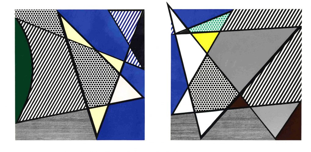 Imperfect Diptych, from: Imperfect Series by Roy Lichtenstein at Roy Lichtenstein