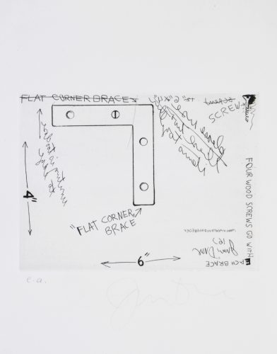 Corner Brace by Jim Dine
