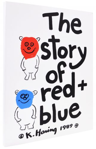 The Story of Red and Blue by Keith Haring