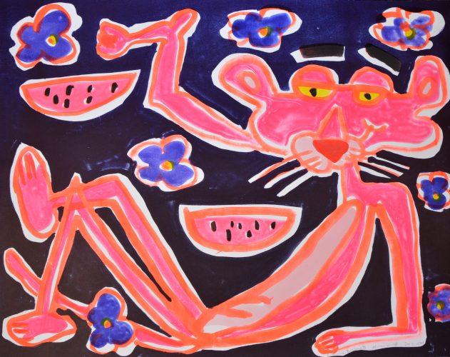 African Violet by Katherine Bernhardt at