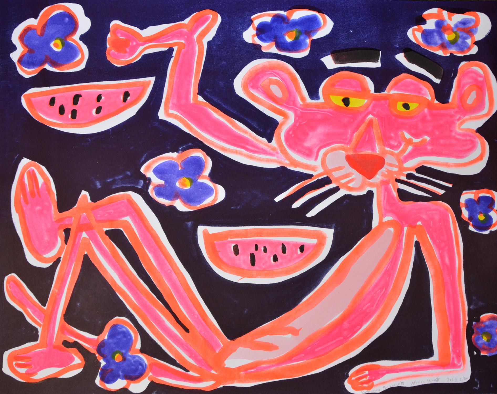 African Violet by Katherine Bernhardt