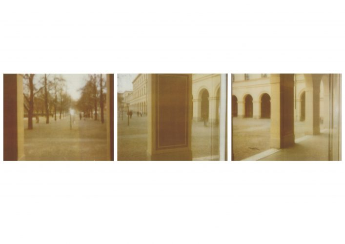 Three Views of the Hofgarten (I, II & III) by Cy Twombly