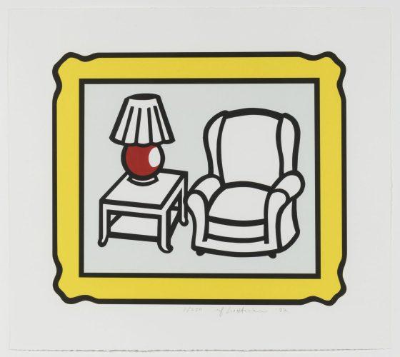 Red Lamp by Roy Lichtenstein