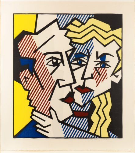 The Couple, from the Expressionist Woodcut series by Roy Lichtenstein