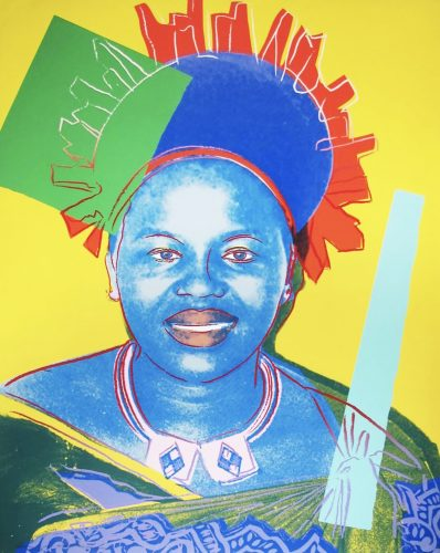Queen Ntombi Twala of Swaziland by Andy Warhol at Shapero Modern