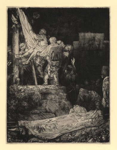 Descent from the Cross by Torchlight, 1654 by Harmensz van Rijn Rembrandt at