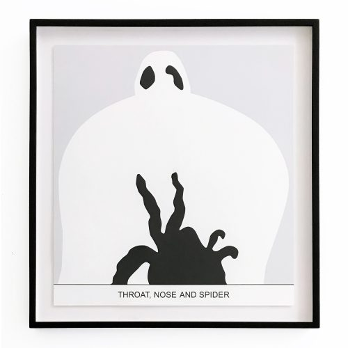 Sediment: Throat, Nose and Spider by John Baldessari at