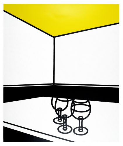 Black and White Café by Patrick Caulfield