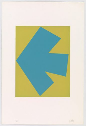 Blue Over Green (Bleu sur vert) by Ellsworth Kelly