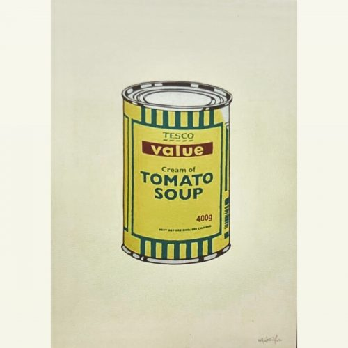 Soup Can yellow (Signed) by Banksy