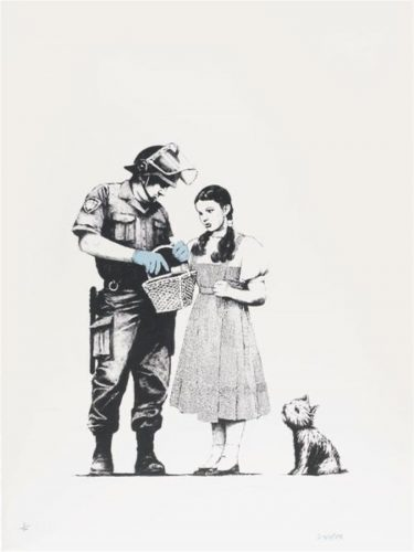 Stop and Search (Signed) by Banksy