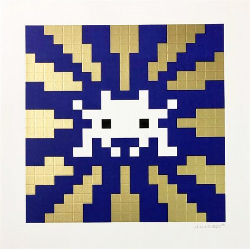 Sunset (Gold & Blue) by Invader