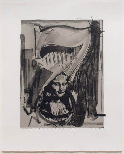 Figure 7, from the Black Numerals by Jasper Johns