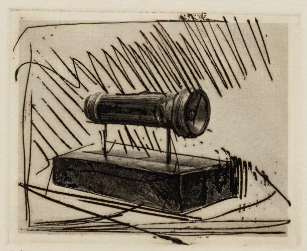 Flashlight (Small), 1st Etchings, 2nd State by Jasper Johns